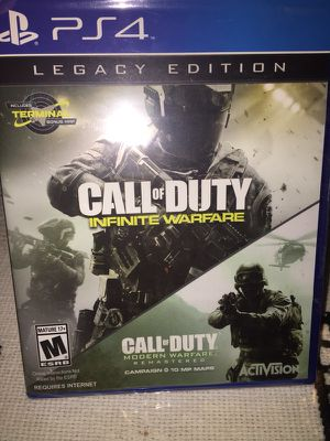 Call of Duty Infinite Warfare plus Call of Duty Modern Warfare Remastered for Sale in Salt Lake City, UT