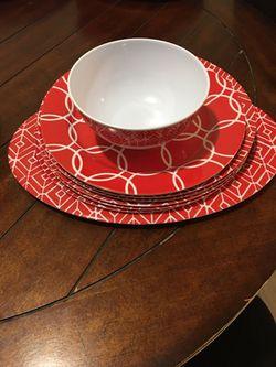 New set of 8 I bowl 6 plates one platter Thumbnail