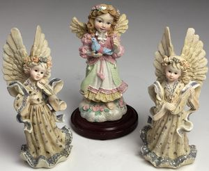 Set of 3 Porcelain Angels / Cherubs Figurines Statues Collectable Figures LOT for Sale in Palm Beach Gardens, FL