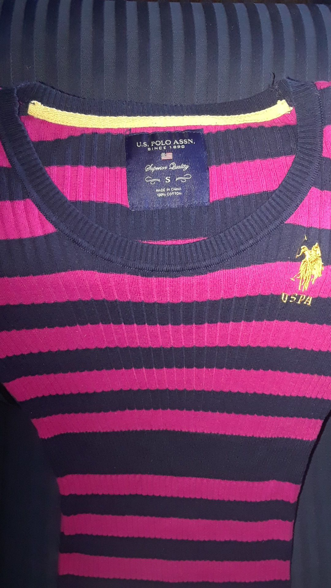 Pink and Navy Blue Polo Dress size small