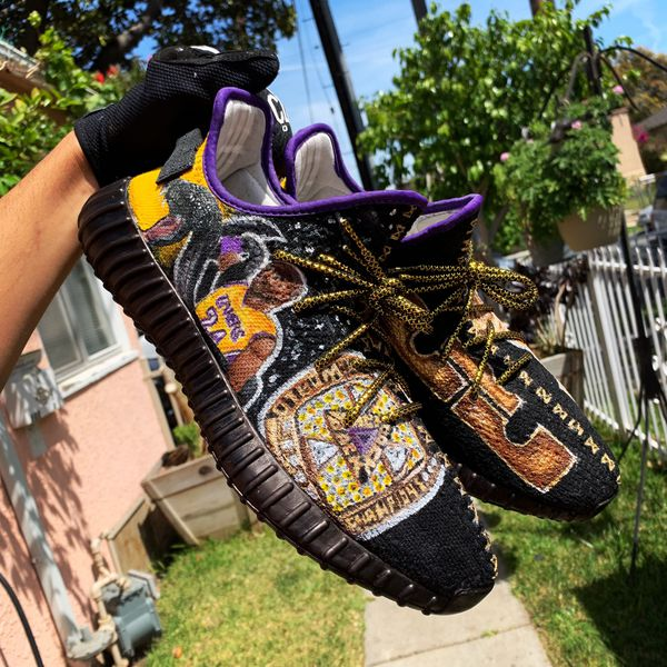 """3a27b33a461df Yeezy Boost 350 V2 """"Lakers"""" CUSTOM for Sale in Inglewood"""