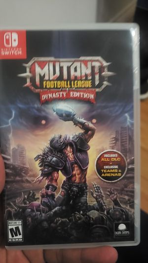 Mutant Football League Dynasty Edition. Nintendo Switch Game for Sale in Ontario, CA