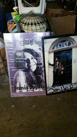 Janis Joplin Jimi Hendrix foam core mounted posters for Sale in Silver Spring, MD