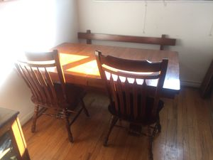 Wood Table and Chairs - Seats 6-8 for Sale in Washington, DC