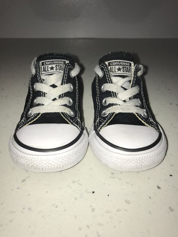0a1553dc2c96 Toddler Girls Size 6 Black Converse All-Star Shoes for Sale in ...