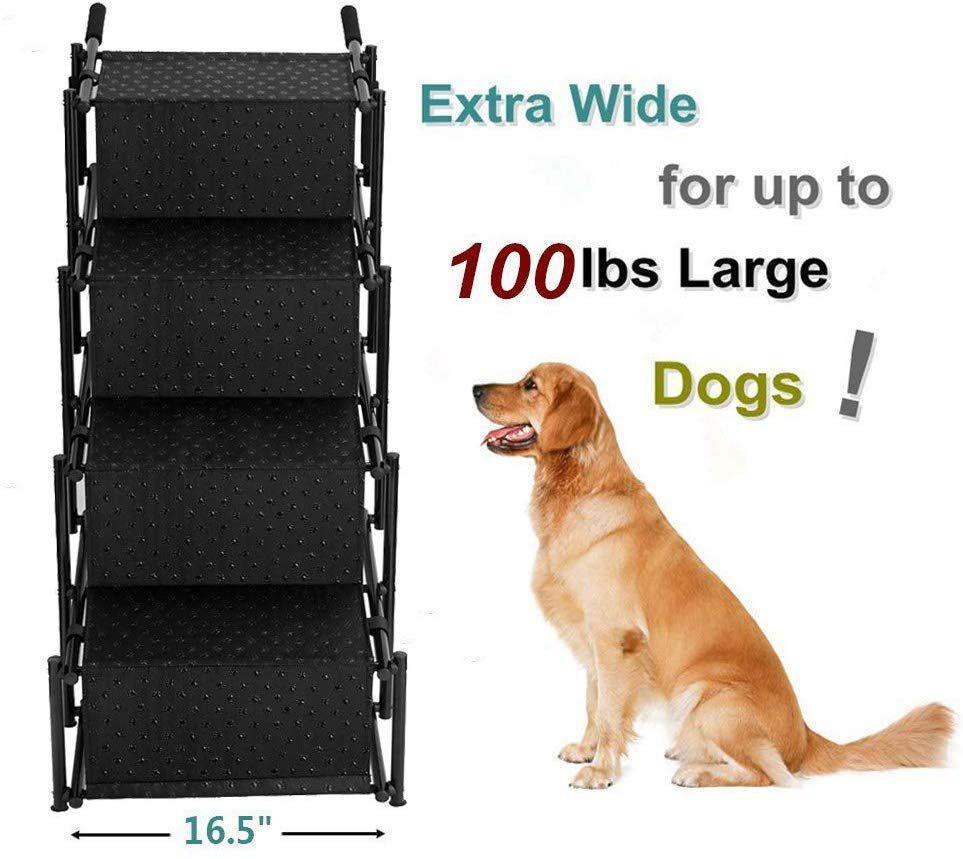 Flightbird Pet Ramp Dog Car Step Stairs, Supports 100 lb,