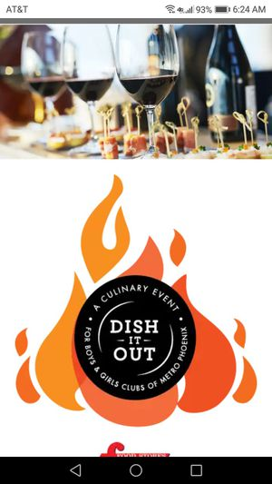 Dish it OUT VIP TICKETS FOR SUNDAY OCT 21 2018 4-9PM ( can't go ) $275.00 for Sale in Peoria, AZ