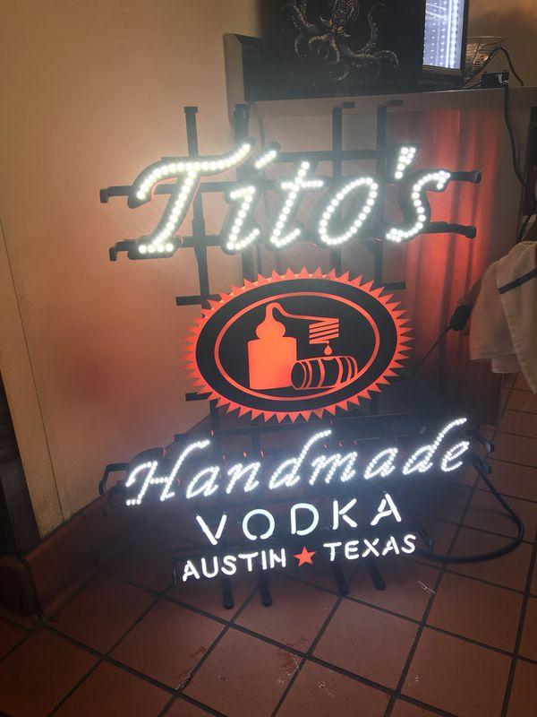 Tito's vodka neon sign for Sale in The Colony, TX - OfferUp
