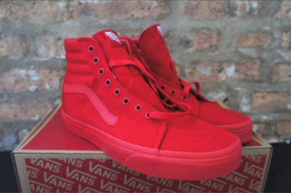 All blue sk8 high all red sk8 high vans for Sale in Oakland fdf0a5742a
