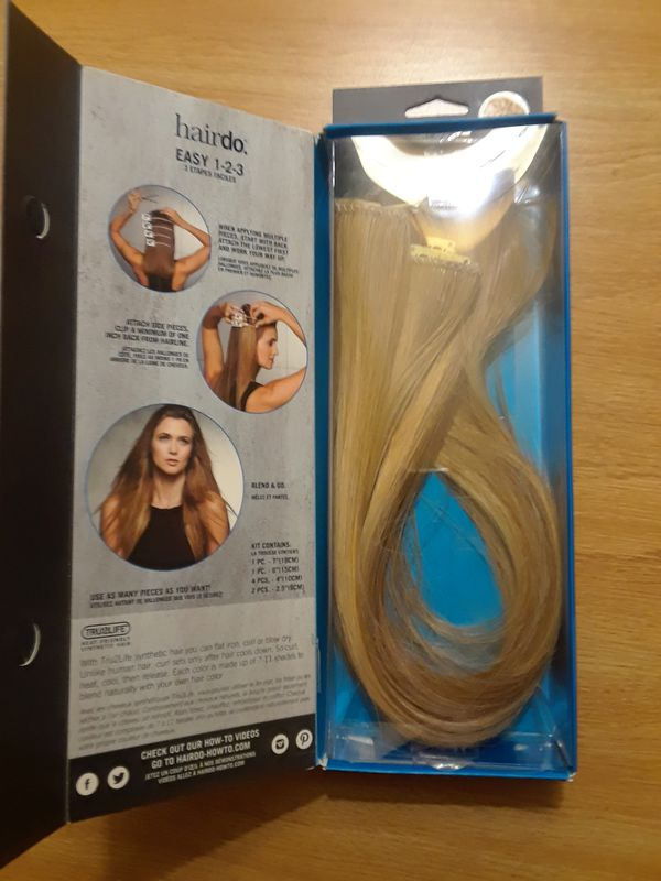 4pc Synthetic Hair Extensions By Hairdoulta Brand Ginger Blonde