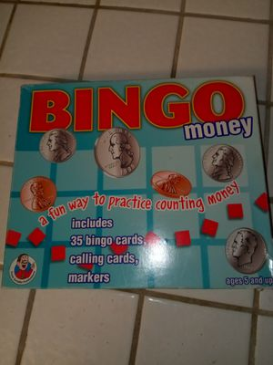 Bingo money kids money learning game for Sale in Lancaster, CA