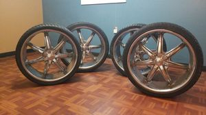 Rim with tires size 24 for Sale in Hyattsville, MD