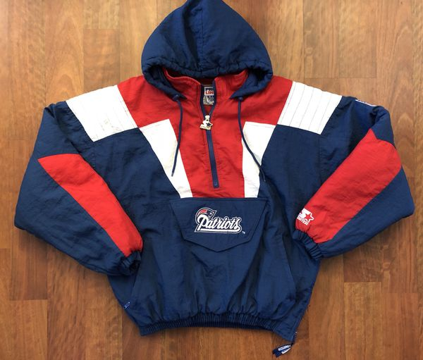 best loved 3ea84 8c0d4 Vintage Starter New England Patriots Half Zip Pullover Jacket Size Large  for Sale in Westminster, CA - OfferUp