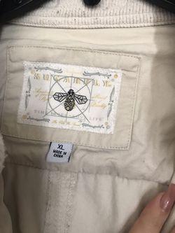 White leather jacket Thumbnail