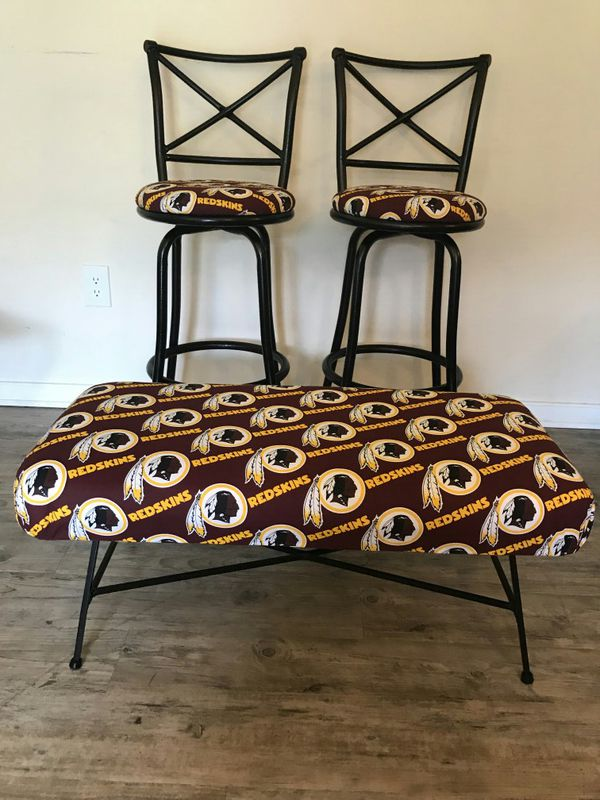 WASHINGTON REDSKINS SWIVEL CHAIRS AND MATCHING BENCH for Sale in ...