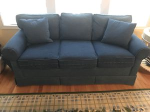 Blue Denim Couch And Pillows For In Plymouth Ma