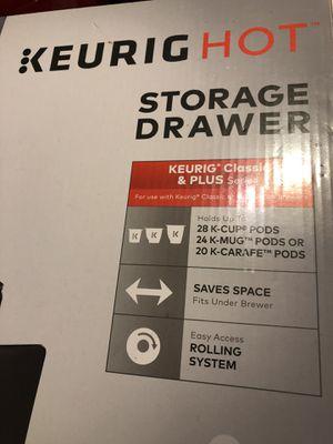 keurig k-cups storage drawer for Sale in Centreville, VA