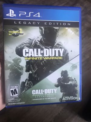 Two games.... Call of duty infinite warfare and Call of duty modern warfare remastered for Sale in Alexandria, VA