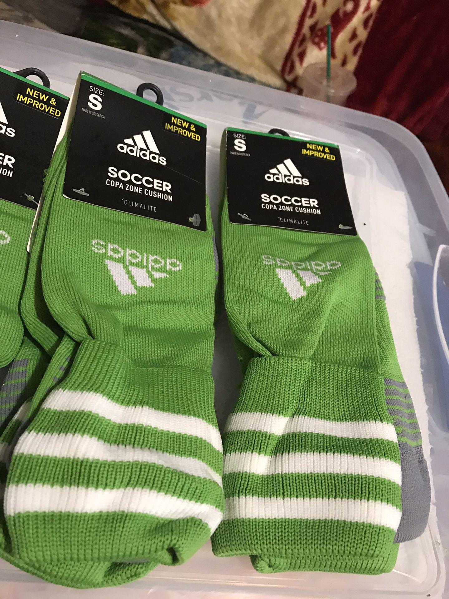 Adidas green soccer socks
