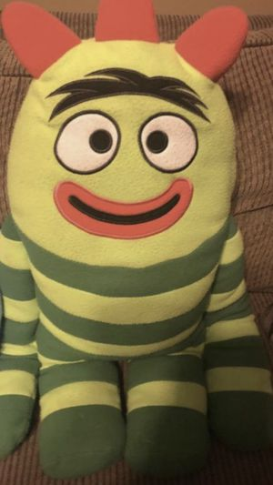 yo gabba gabba full size bedding and curtains w tie strings for sale