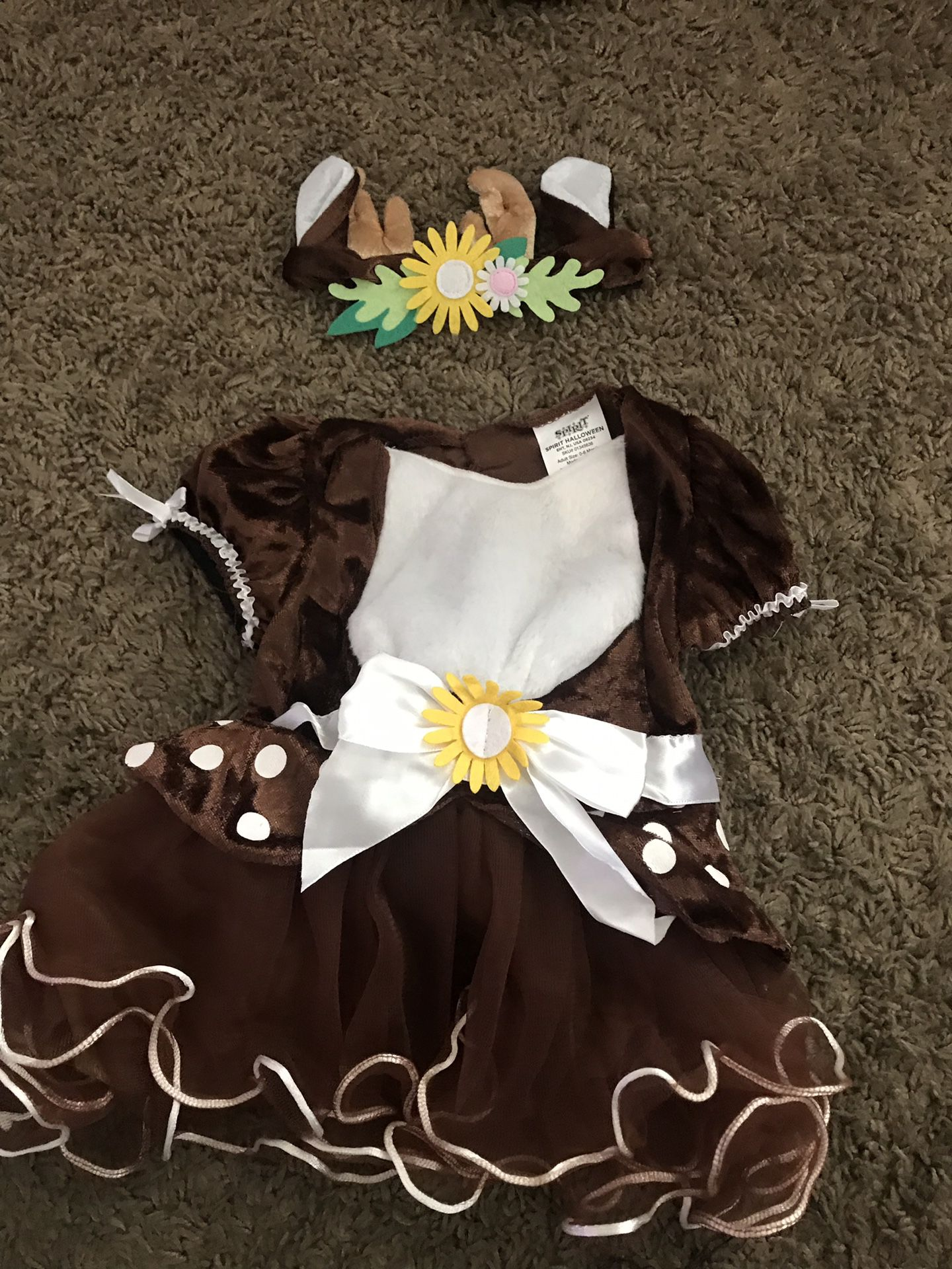 0-6month baby fawn costume/dear candy bucket