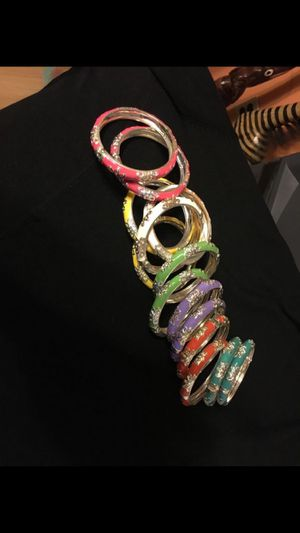 6 sets of beautifully decorated bracelets (color orange no longer available) for Sale in Boston, MA