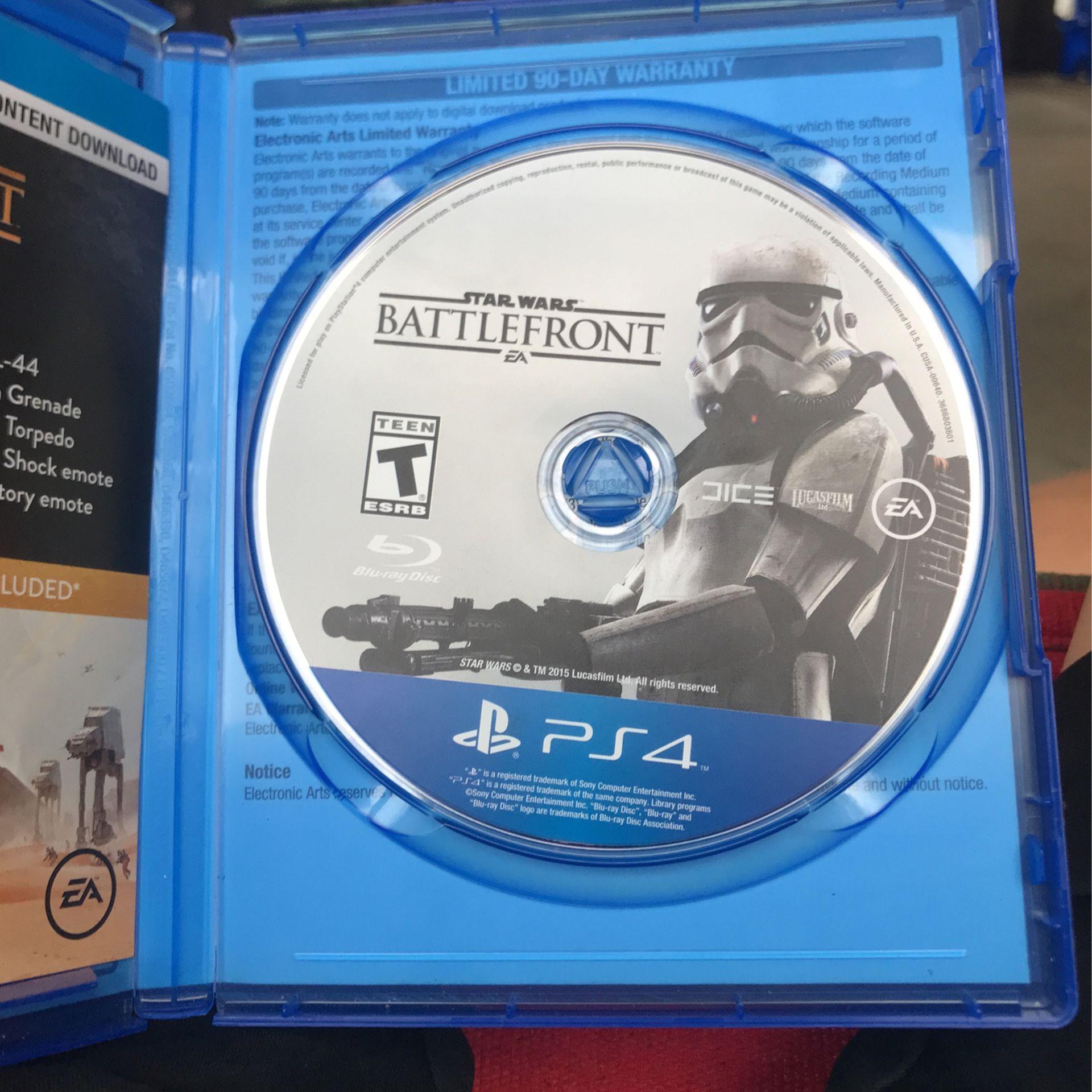5 Pack Ps4 Games- Battlefront Deluxe Edition, Battlefront 2, Madden 18, Monster Hunter World, Cars 3 Driven 2 Win