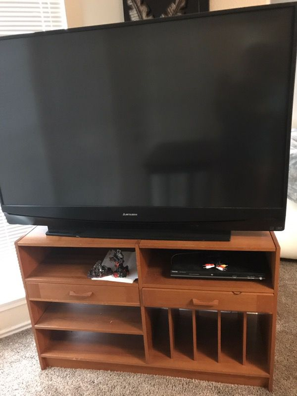 55 Inch Mitsubishi Tv And Dresser Stand For Sale In Austin Tx Offerup