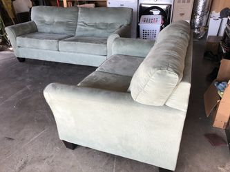 Gorgeous seafoam colored couch & loveseat Thumbnail