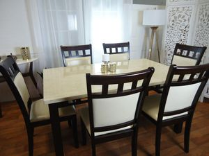 Marble dining table set 6 Chairs table for Sale in Arbutus, MD