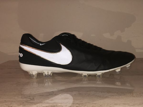 Nike Tiempo Legend VI FG 819177-010 Men s US 14 Black White Metallic Gold b7c9d8ca4