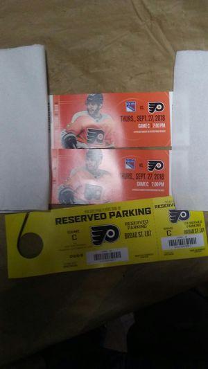 Flyer tickets for Thursday OBO for Sale in Philadelphia, PA