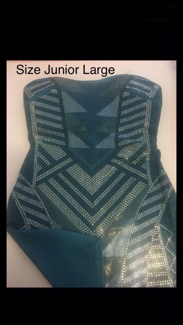 Sequin stretch dress size junior large