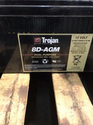 Trojan 8D 12volt Dual Purpose AGM Batteries for Sale in Atlanta, GA