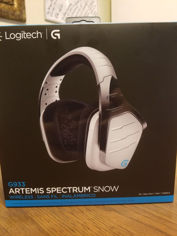 Logitech G G933 Artemis Spectrum Snow Wireless Gaming Headset For