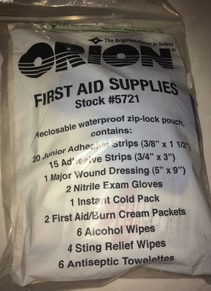 Orion first aid supplies for Sale in Takoma Park, MD