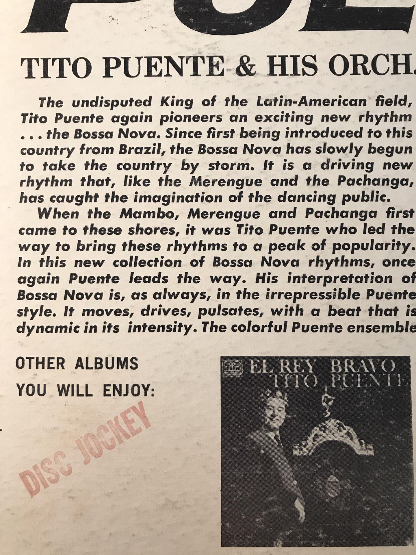 TITO PUENTE - Bossa Nova by Puente - LP 1962 Jazz Vinyl Mono