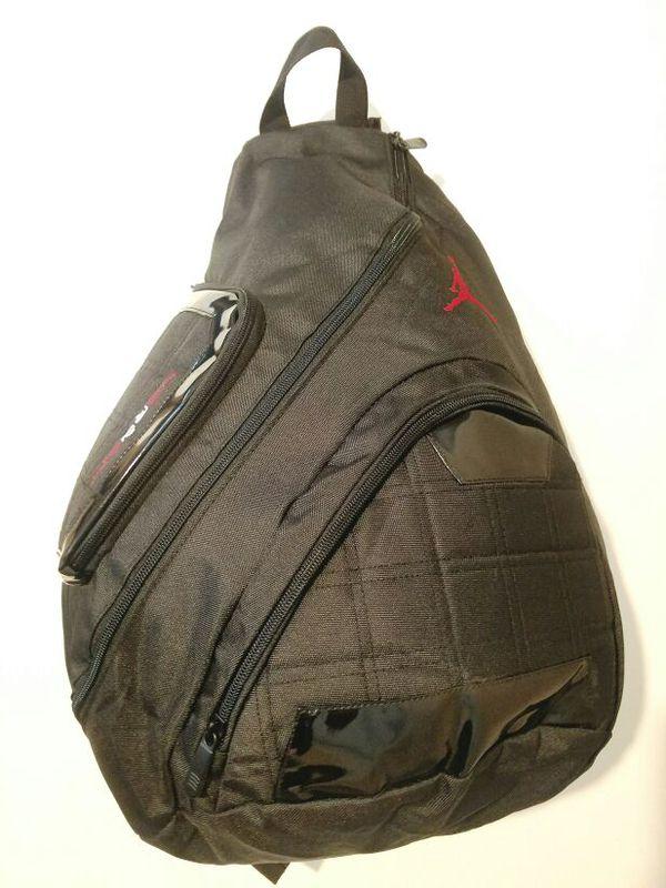 Nike Air Jordan Sling Backpack Tablet Laptop Gym Bag Black School Men Women  Boys