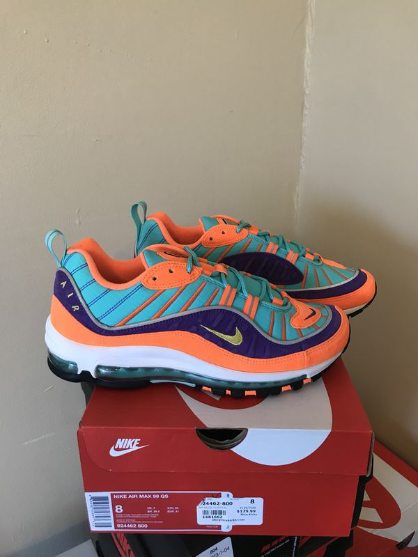 huge selection of 21b71 33fcd Nike Air Max 98 Vibrant Cone Size 8 for Sale in Sunrise, FL - OfferUp