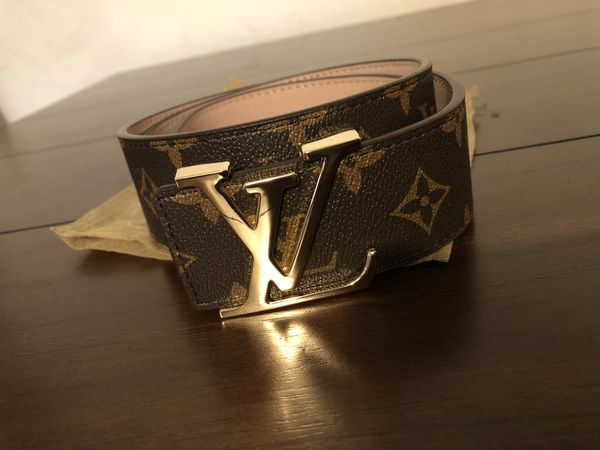 06489466f70 Louis Vuitton Mens belt with gold buckle for Sale in San Francisco, CA -  OfferUp