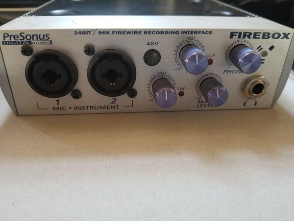 Presonus Firebox Recording Interface For Sale In San Diego CA