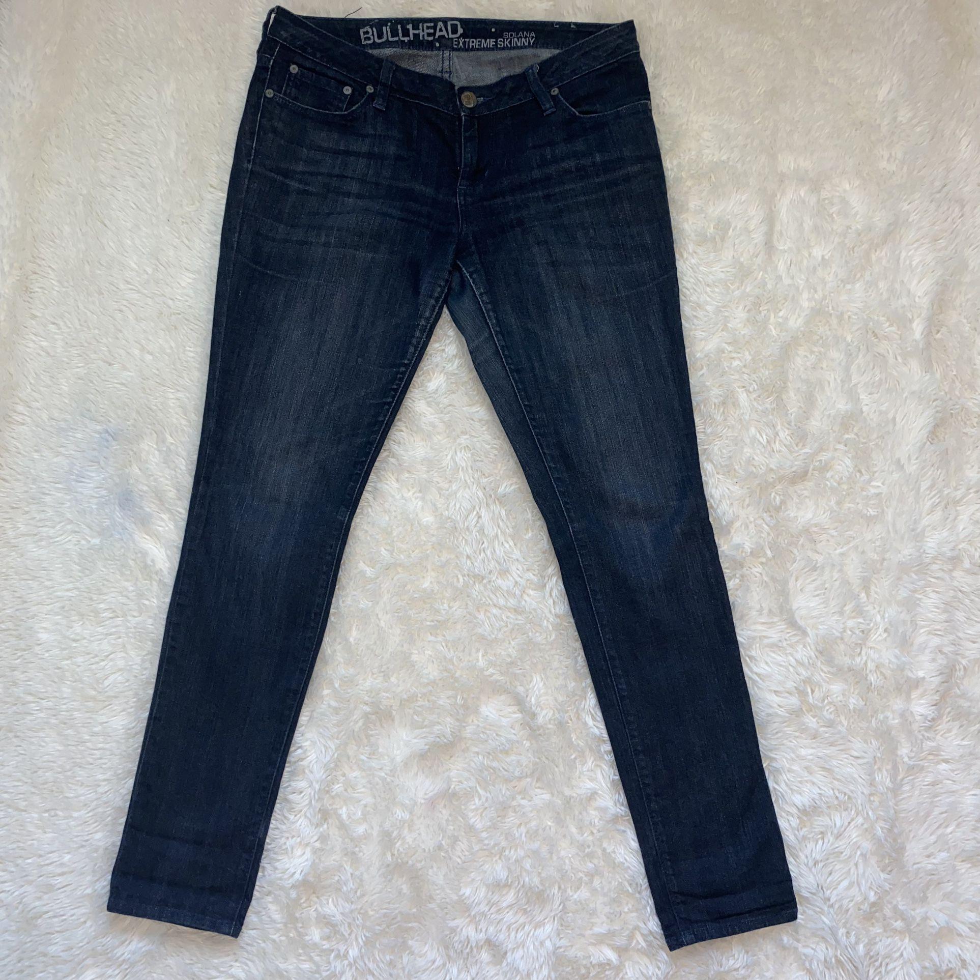 Bullhead Solana Extreme Skinny 9R Dark Blue Jeans