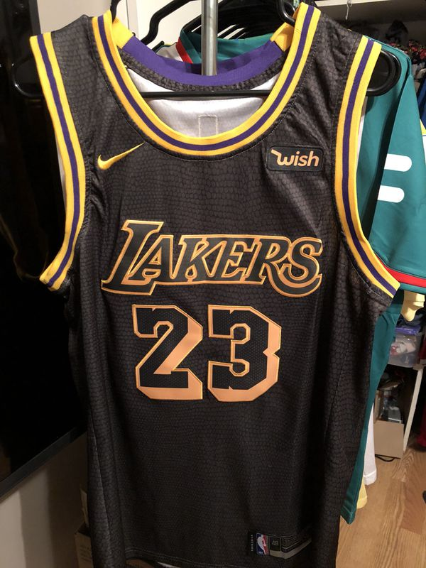 b3d4dbd60ff 2018 2019 LOS ANGELES LAKERS LEBRON JAMES Swingman NBA Jersey City ...