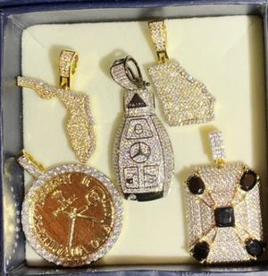 Lot of iced out pendents for Sale in Manassas, VA