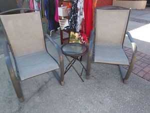 Outdoor table and 2 chairs for Sale in Orlando, FL