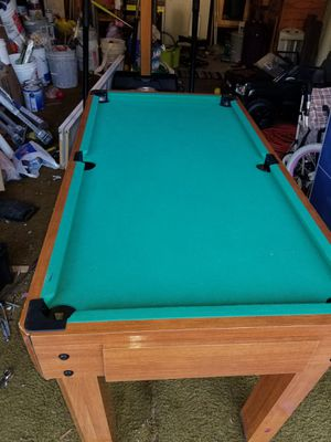 Pool table/Soccer table/hockey table and bowling table. 4 in 1 for Sale in Dale City, VA