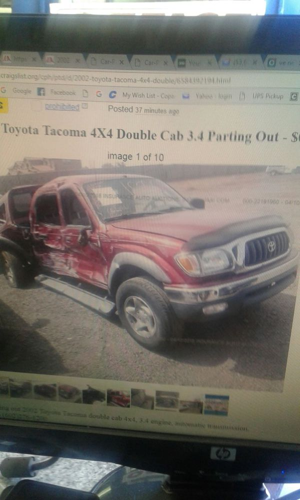 2002 Toyota Tacoma 4 by 4 double cab 3 4 parting out for Sale in Phoenix,  AZ - OfferUp