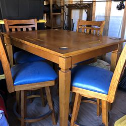 Bar Table / Poker Table and 4 Chairs  Thumbnail