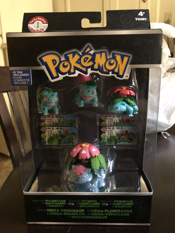 728e59c0f TOMY Pokémon bulbasaur, ivysaur, Venusaur and mega venasaur brand new in box