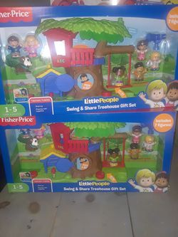 Little people swing & share tree house gift set Thumbnail